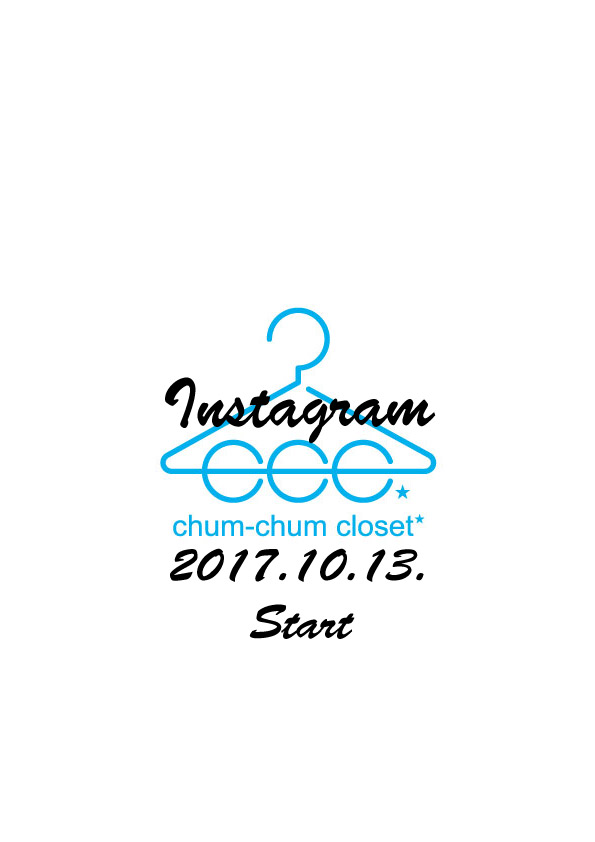 instagram by chumchumcloset.始まりました。